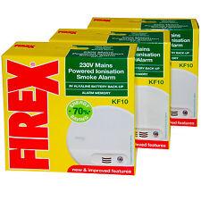 3 x Kidde Firex  KF10 Mains Smoke Alarm Detector replaces KF1 4870 -  SENKF10