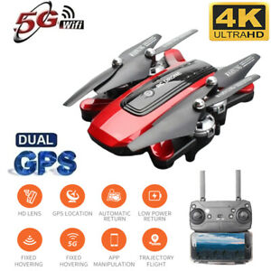 Drone Foldable Quadcopter GPS WIFI FPV 1080P Wide-Angle HD Camera Christmas Red~