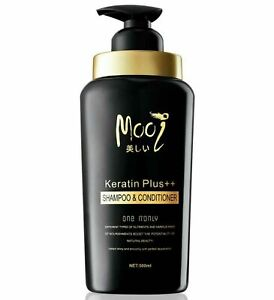 Mooi Keratin Plus++ Shampoo&Conditioner Hair Healthy Treatments 500ml.