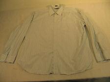 D722 - Haberdashery by J. Crew - striped long sleeve casual dress shirt - XXL