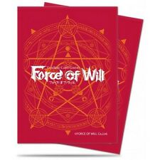 65 Deck Protector Sleeves Red Card Back - Force of Will FoW, Ultra Pro