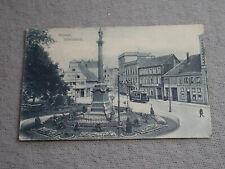 AK MÜNSTER I W MARIENSÄULE MIT STRASSENBAHN  24.7.1908