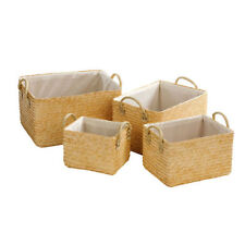 Straw Decorative Baskets with Handle