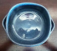 Old Time Pottery Winthrop, Wa. Hand Thrown Square Handled Dish Blue Speckled