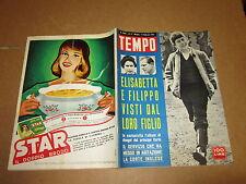 RIVISTA IL TEMPO FEBBRAIO 1961 REGINA ELISABETTA E RE FILIPPO CARLO DA PICCOLO
