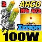 h4 halogène Feu Lumière Jaune Voiture AMPOULES de phare lampe 100W 12V 8500K