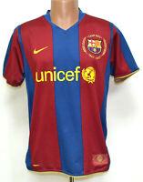 BARCELONA SPAIN 2007/2008 HOME FOOTBALL SHIRT JERSEY NIKE SIZE M ADULT