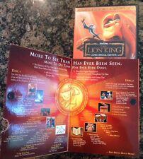 The Lion King (DVD,2003,2-Disc,Platinum Edition) Authentic US Release