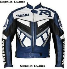 Yamaha Motorcycle Leather Jacket CE Approved Protections High Quality