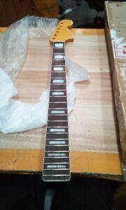 Maple Guitar neck 22Fret 25.5inch Yellow Neck Block Inlay Rosewood Fretboard