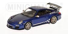 1:43 Minichamps PORSCHE 911 GT3 RS (997 II) 2009 BLUE METALLIC 1536