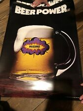 Maximus Beer ~ 1971 Promo Poster ~ Beer Power ~ 21x29.5 ~ It'S No Ordinary Beer