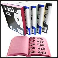 Raffle Books Color 1-800 Tickets Duplicate Numbered Bingo Cloakroom Custom Print