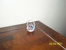 *Swarovski* Crystal Basket w/Crystal Handle & Color Crystal Hearts in Middle