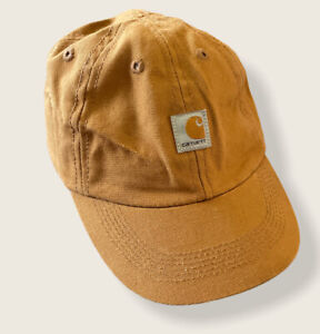 Carhartt Toddler Baby Canvas Brown Hat Cap Hunting Working Used