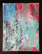 toile Graffiti originale - peinture signé - usa canvas street art posca flag tag