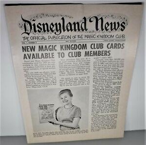 Vintage Original DISNEYLAND NEWS Vol 1 Issue 2 Publication TIKI ROOM MICKEY CLUB