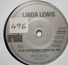 "LINDA LEWIS - I'd Be Surprisingly Good For You - Ex Con 7"" Single Ariola ARO 166"