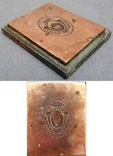 Matrice de sceau cachet en cuivre Armoiries fleur de lys