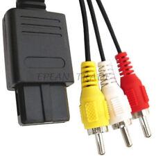 Cordon Cable AV RCA Audio Vidéo Pour Console Jeux Nintendo SNES N64 Gamecube NGC