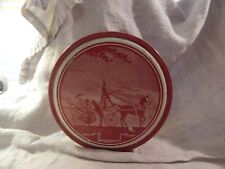 Vintage Victorian Chocolate Filled Straws Round Tin