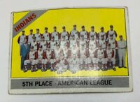 1966 Topps Cleveland Indians Team # 303 Baseball Card