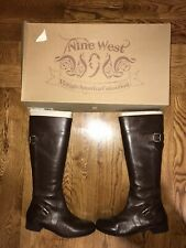 Leather Boots Nine West Vintage America Collection Brown Size 9.5 M
