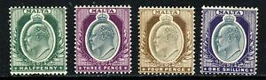 MALTA King Edward VII 1903-04 A Watermark Crown CA Part Set SG 38 to SG 44 MINT
