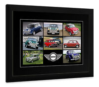 FRAMED AND OR MOUNTED PRINT MINI COOPER  CLASSIC CAR  POSTER GIFT ART
