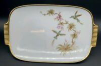 Alboth Kaiser Haiti Porcelain Trinket Tray Hummingbirds, MCM Mid Century Modern