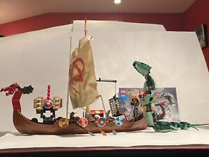 LEGO Vikings: Partial ship ONLY from Viking Ship challenges Midgard Serpent 7018
