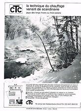 PUBLICITE ADVERTISING 094  1969  CTC   technique de chauffage ballon eau chaude
