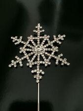 6cm Snowflake Cake Topper Silver Diamante Disney Frozen Kids Christmas UK