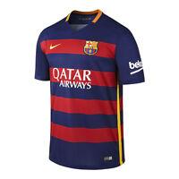 Nike FC Barcelona Season 2015-2016 Home Soccer Jersey Brand New Red - Royal