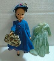 """Vintage 1960s 12"""" Vinyl Horsman Mary Poppins Doll and Extra Dress"""
