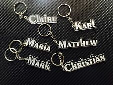 Personalised Personalized Keychain Keyring Name Bag Tag Christmas Gift