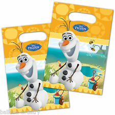 6 Disney's FROZEN Summer OLAF Snowman Party Plastic Gift Favour Loot Bags