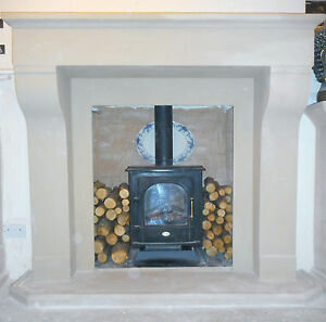 F02 Extra Large Belgian Fire Surround in Plaster - BIRMINGHAM COLLECTION ONLY
