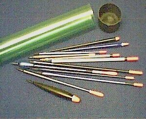 Set of 12 assorted River and Lake fishing floats in a tube