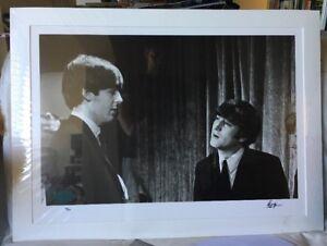 SIGNED Ringo Starr John Lennon McCartney Beatles photo Genesis COA autograph