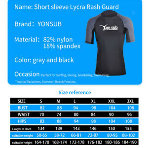 Men's Surfing Dive Short Sleeve Tops Quick Drying Swimming T-Shirt Swimsuit