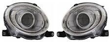 Left Right Genuine Headlights Headlamps Silver Pair Set For Fiat 500 12-18 Mopar