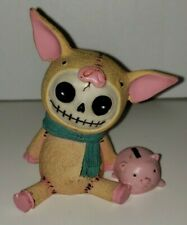 Furrybones Skeleton Animal Bacon the Peach Pig Figure Statue Skull Piggie Bank