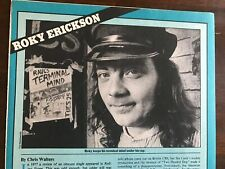 1982 Vintage 1Pg Short Print Article On Roky Erickson 13Th Floor Elevators