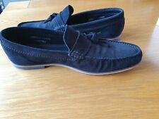 Men's ASK THE MISSUS Black Suede Loafers with box - Size 10 - Good condition