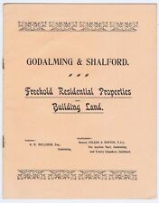 GODALMING Property Auction - 8 Page Catalogue at the Auction Mart 1909
