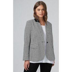 NWT Lane Bryant Houndstooth Plaid Blazer Jacket Women's Size 26