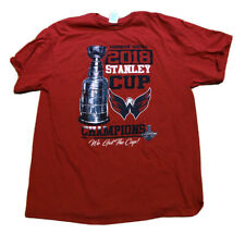 Washington Capitals 2018 Stanley Cup Champions Tee Shirt Red Large XL NHL Hockey