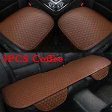 3Pcs PU Leather Front+Rear Seat Cushion Car Seat Covers For Interior Accessories