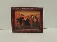 MINI MILLET PAINTING FRAMED 'WORKING THE FIELD' DOLLS MINIATURE  1:12 SCALE !